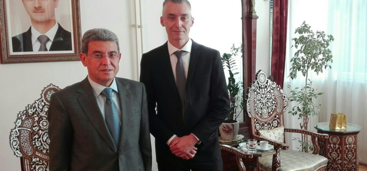 A visit to the Embassy of Syria in Belgrade, April 24th, 2018.